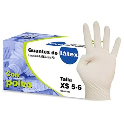 Picture of GUANTES LATEX CAJA 100 UD